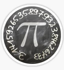 The Number Pi Sticker