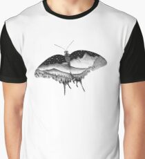 Dotwork Butterfly Landscape Graphic T-Shirt