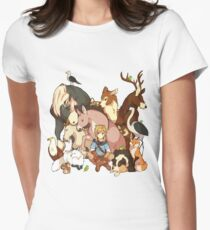 Zelda's Animals Women's Fitted T-Shirt