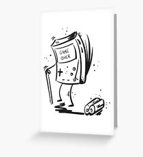 Game Over game boy Greeting Card