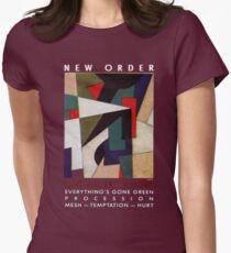 New order Factus 8 design Joy Division  Womens Fitted T-Shirt