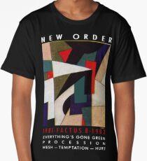 New order Factus 8 design Joy Division  Long T-Shirt