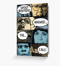Ghostbusters Answer The Call Greeting Card