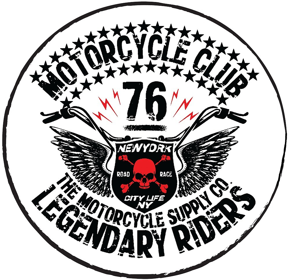 Motorcycle Club Design with red Human Skull by AmorOmniaVincit