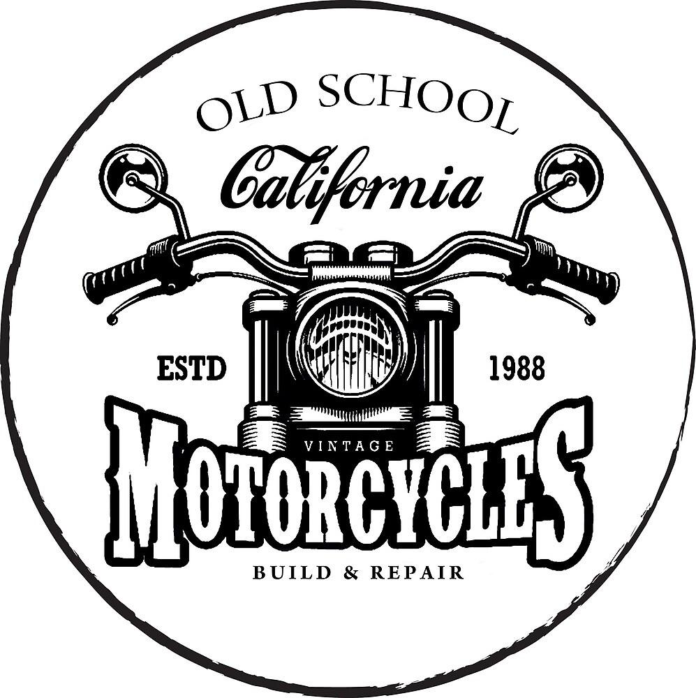 Motorcycle Garage Service Emblem by AmorOmniaVincit