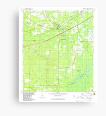 USGS TOPO Map Florida FL Ponce De Leon 348163 1982 24000 Canvas Print
