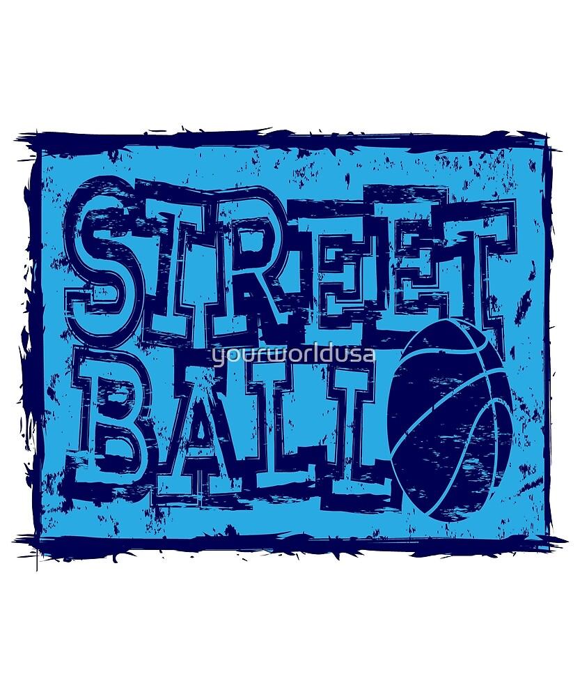 streetball with basketball ball  by yourworldusa