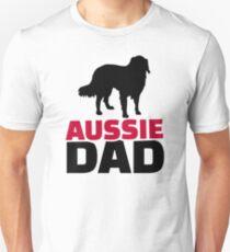 Aussie Australian shepherd Dad T-Shirt