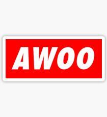 AWOO Sticker