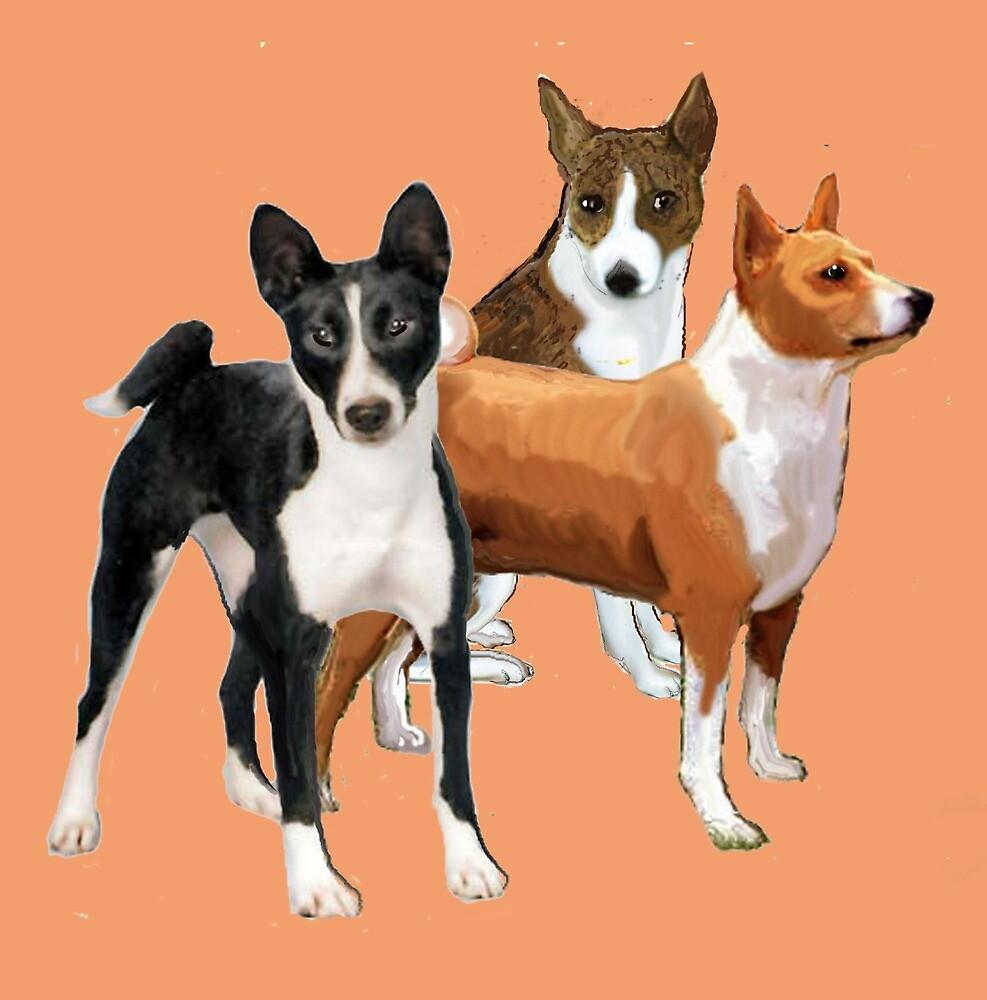Basenji dogs by IowaArtist