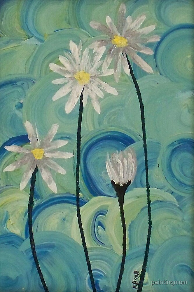 White flowers by paintingmom