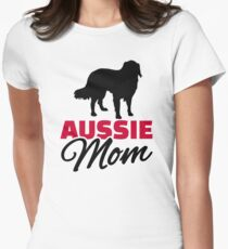 Aussie Australian shepherd Mom Womens Fitted T-Shirt