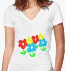 A bright spring Women's Fitted V-Neck T-Shirt