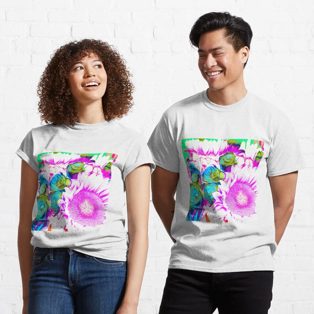 Flower Lovers Gift - Neon Bouquet Design Classic T-Shirt
