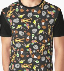Spyro the Dragon Pattern Graphic T-Shirt