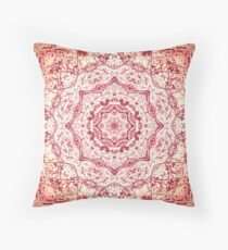 Zen Pink Mandala Throw Pillow