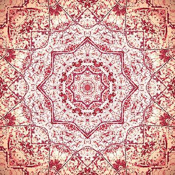 Gift for Yogi - Zen Pink Mandala Design  by OneDayArt