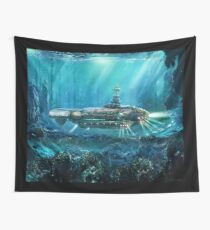 Steampunk Submarine Wall Tapestry