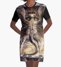 BLAKE, William Blake, The Great Red Dragon and the Woman Clothed in Sun Graphic T-Shirt Dress