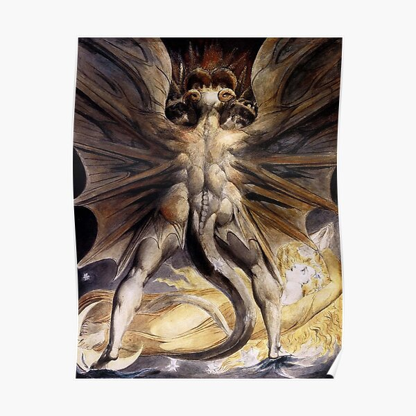 BLAKE. The Great Red Dragon and the Woman Clothed in Sun. Poster