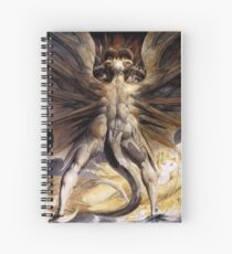 William Blake, The Great Red Dragon and the Woman Clothed in Sun Spiral Notebook