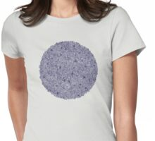 Held Together - a pattern of navy blue doodles Womens Fitted T-Shirt