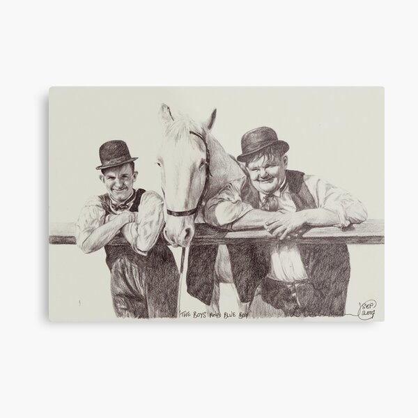 'The Boys and Blue Boy' Metal Print