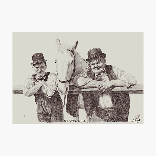 'The Boys and Blue Boy' Photographic Print