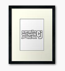 CJ GTA Follow Train San Andreas Framed Print