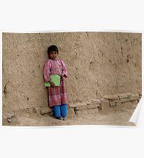 Shcoolgirl in Afghanistan Poster