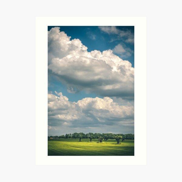 Willows and clouds (Schalkwijk, Utrecht) Art Print