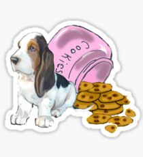Baet hound spilled the cookies Sticker