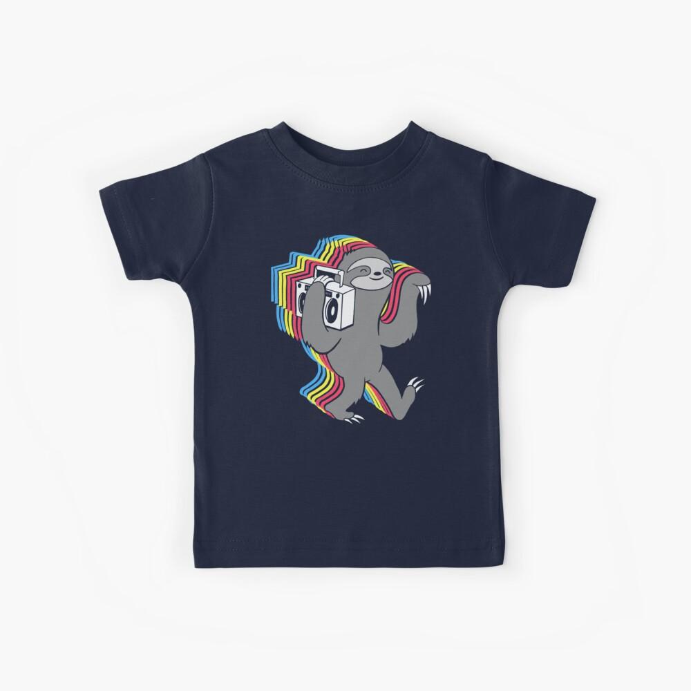 Slow Jams (Boombox Sloth)  Kids T-Shirt