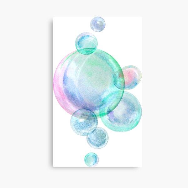 Watercolor soap bubbles Canvas Print
