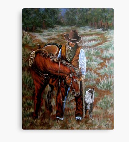 Levi, Pecos And Orson Metal Print