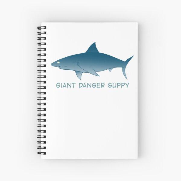 Giant Danger Guppy (Shark) Spiral Notebook