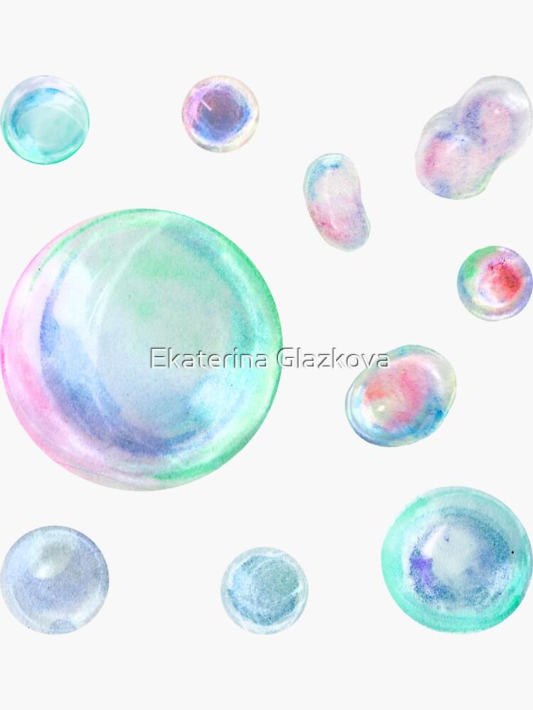 Watercolor soap bubbles by Glazkova
