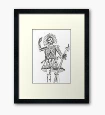 Warrior Battle Armour Skull Time Framed Print