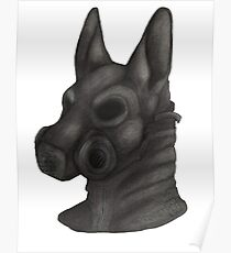 Anthro Gas Mask Poster