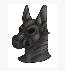 Anthro Gas Mask Photographic Print