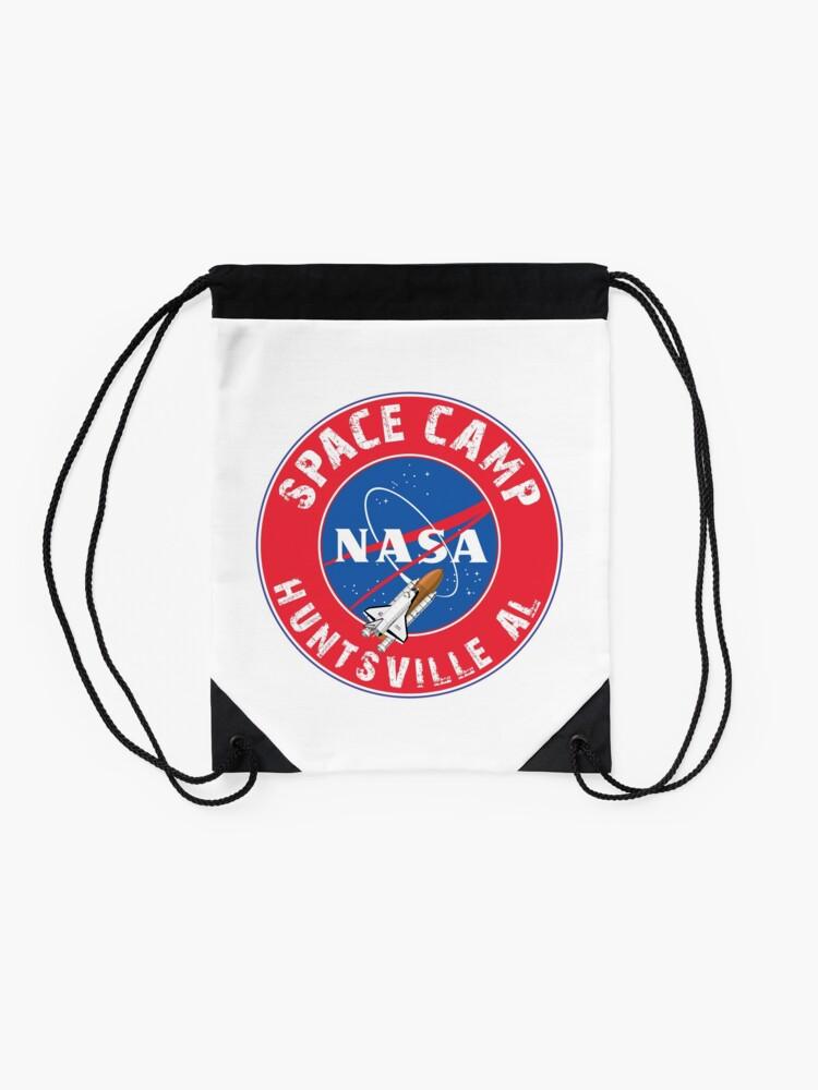 Vista alternativa de Mochila saco Campo espacial de la NASA Huntsville Alabama Space Shuttle Rocket Astronaut