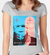 Cabaret Voltaire Blue Microphones shirt Women's Fitted Scoop T-Shirt