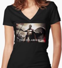Jeremy Corbyn 300 Women's Fitted V-Neck T-Shirt