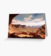 False Kiva, Canyonlands National Park Greeting Card
