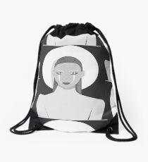 Black and white Fashion Drawstring Bag