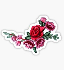 curved roses Sticker