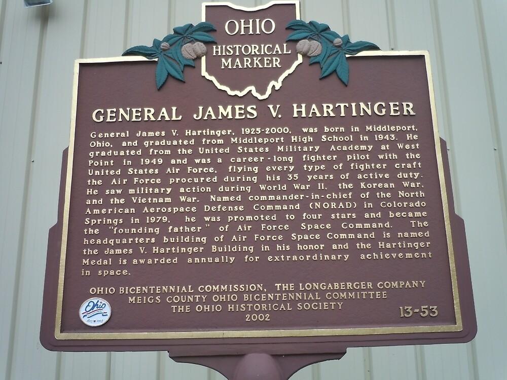 GENERAL JAMES V. HARTINGER-HISTORICAL LAND MARK by James Gibbs