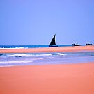 THE DOW.AND THE OPEN SEA, NATIVE FISHERMANSBOAT IN MOZAMBIQUE von Magriet Meintjes