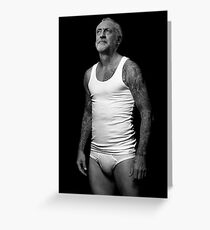 Jeremy Corbyn Underwear Model Greeting Card