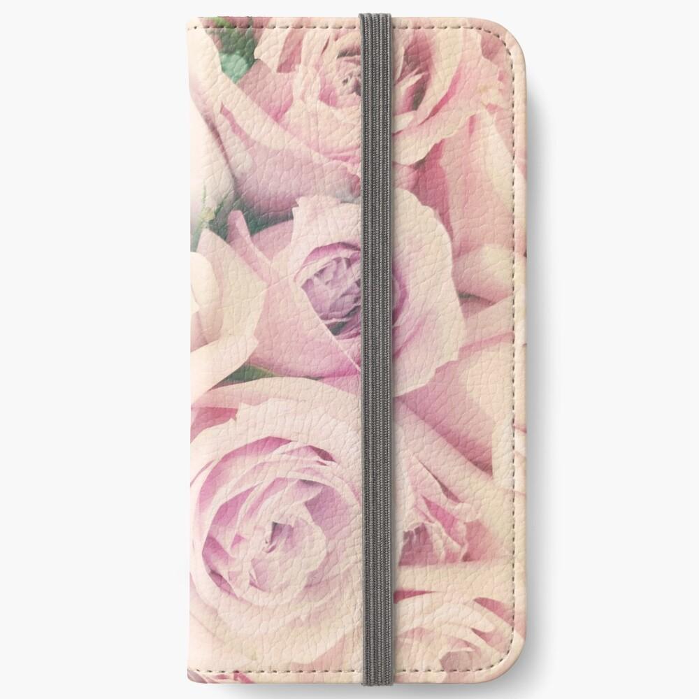 Gift for Gardener - Pink Rose Blush Pastel Gift - Floral Present iPhone Wallet